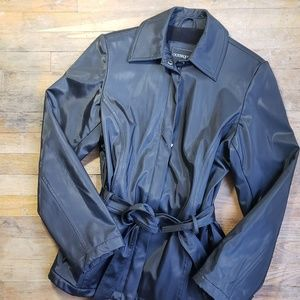 Outbrook jacket zipper belt tie pockets size S